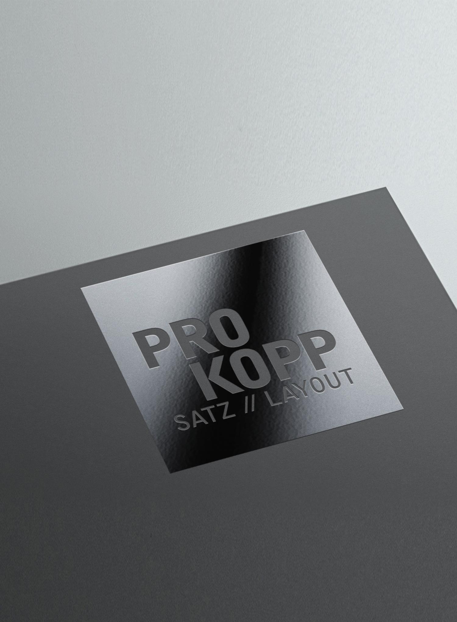 PROKOPP SATZ // LAYOUT, Ingo Prokopp